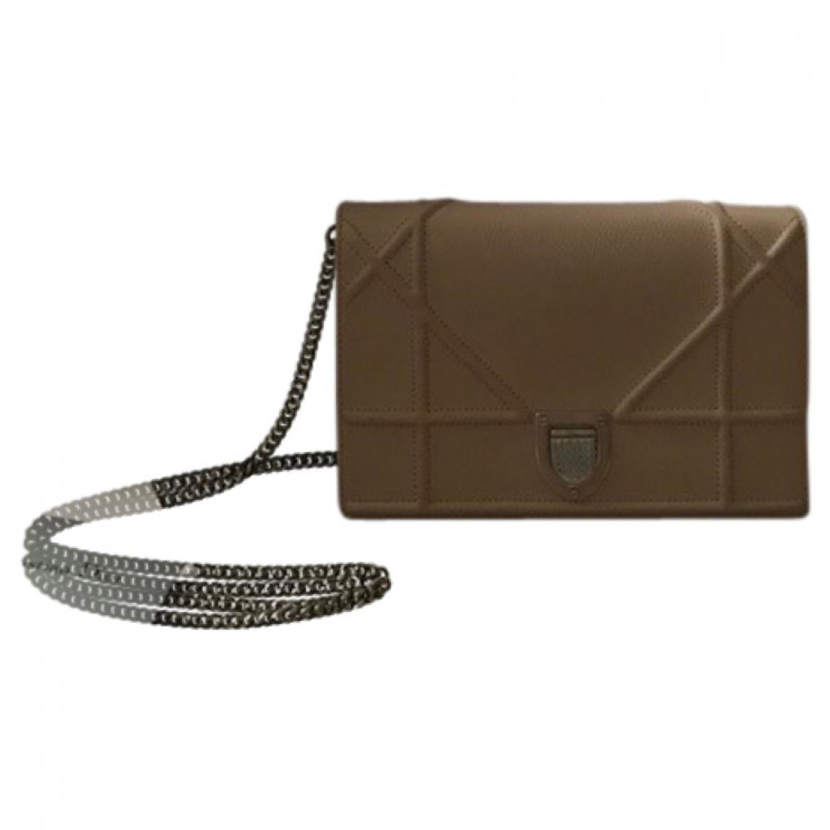 Dior Diorama Handtasche in  Beige Leder