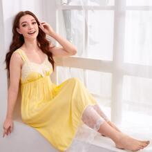 Lace Trim Night Dress