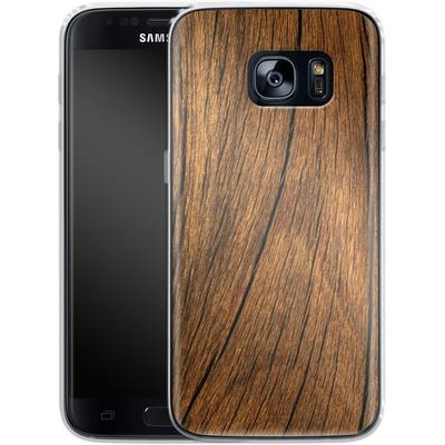 Samsung Galaxy S7 Silikon Handyhuelle - Wood von caseable Designs