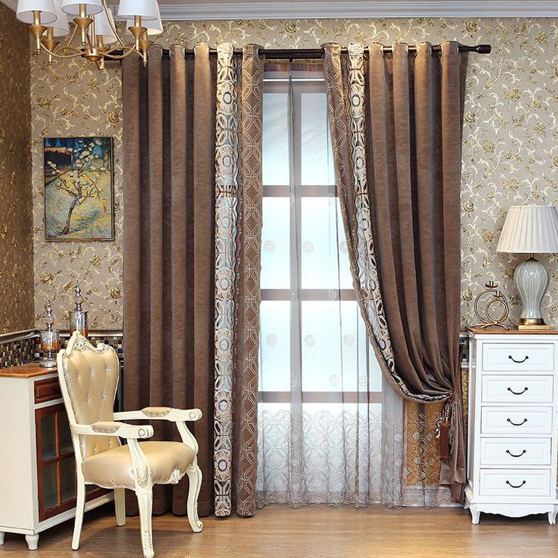 Classic Exquisite Flowers Pattern Custom Sheer Curtain