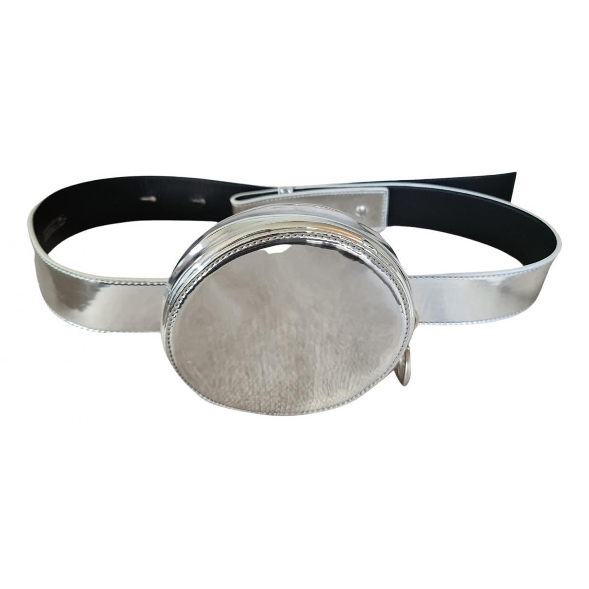 Off-white \N Guertel in  Silber Lackleder