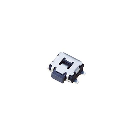 Panasonic Black Side Tactile Switch, Single Pole Single Throw (SPST) 10 μA → 50 mA 0.65mm Surface Mount