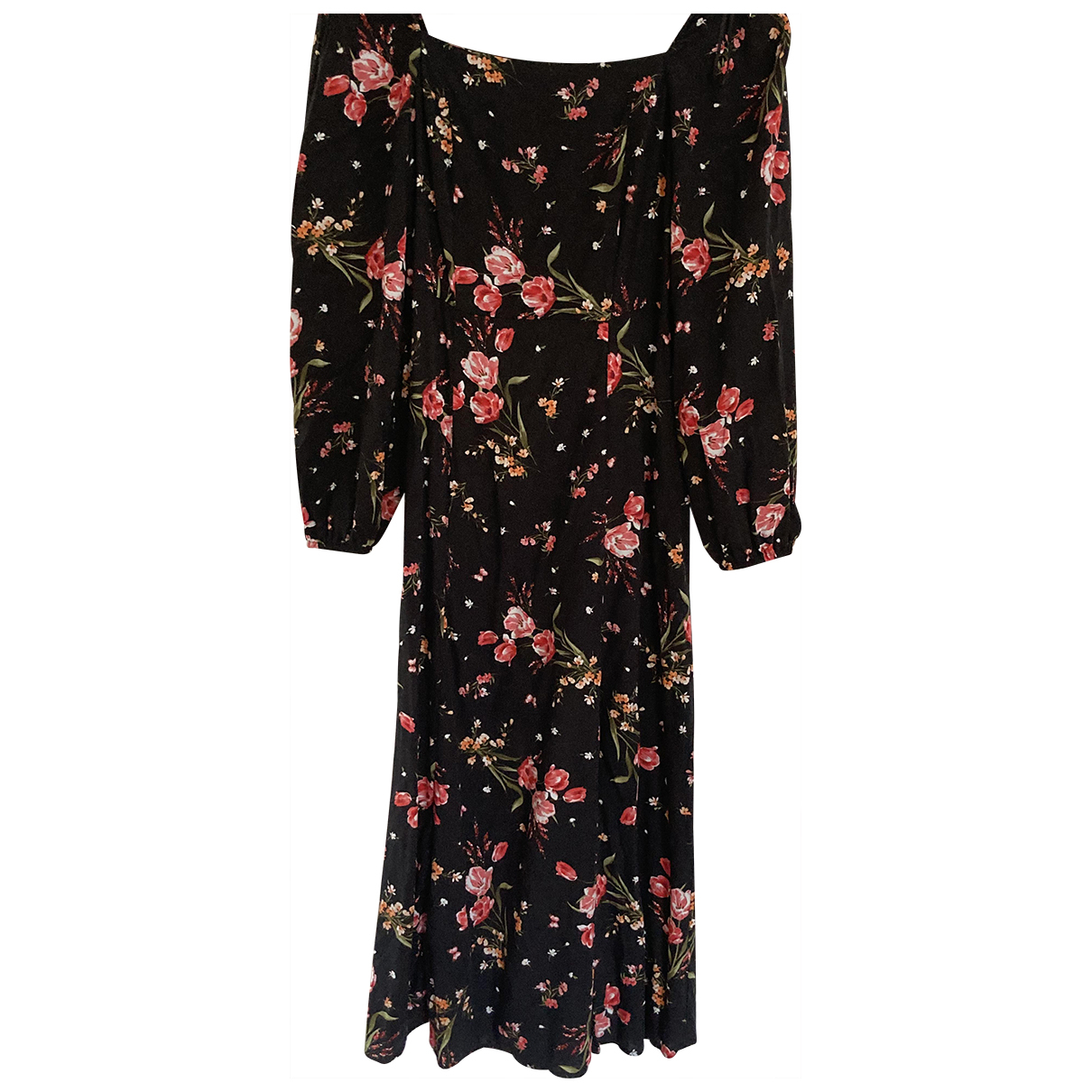Non Signé / Unsigned \N Black Cotton dress for Women 12 UK