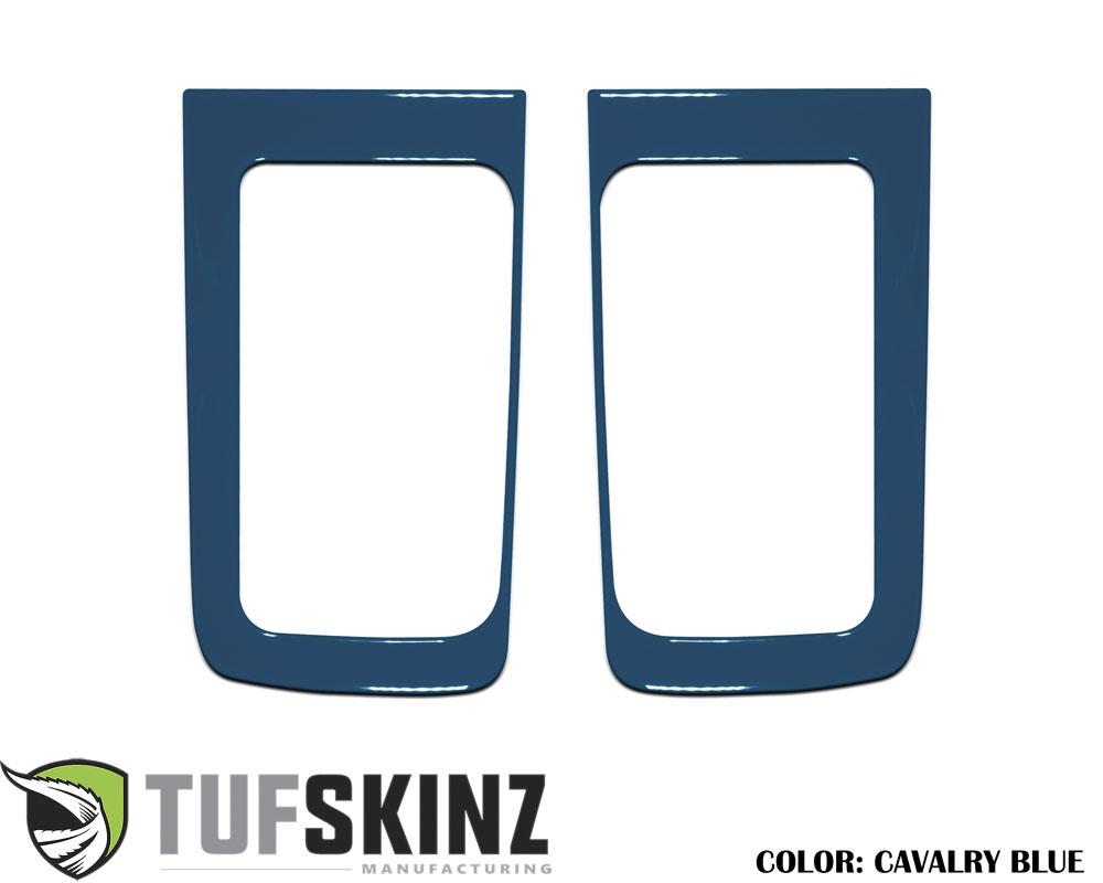 Tufskinz TUN032-CYB-G D-Cab Rear Door Handle Accent Trim Fits 14-up Toyota Tundra 2 Piece Kit Cavalry Blue