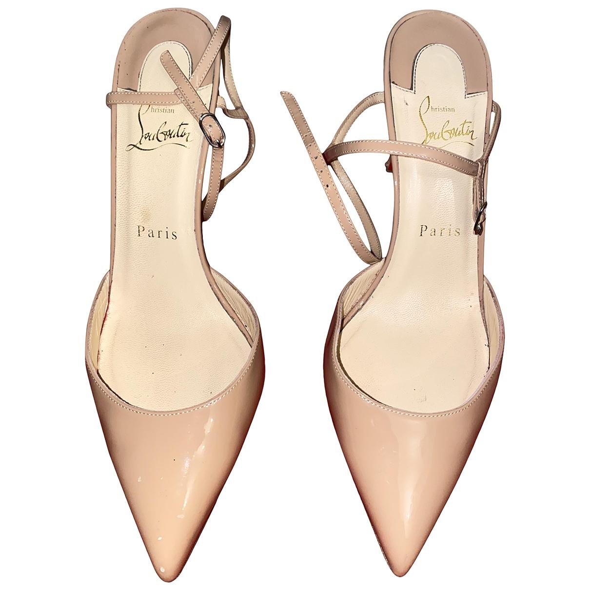 Christian Louboutin So Kate  Beige Leather Heels for Women 38.5 EU