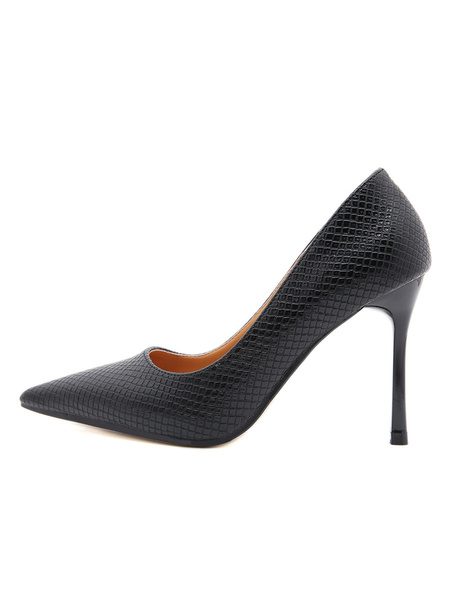 Milanoo Women High Heels Pointed Toe Stiletto Heel Sexy Apricot PU Leather Pumps