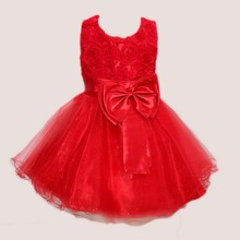 Toddler Girls Big Bow Tie Back Tutu Dress