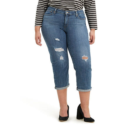 Levi's - Plus Womens Mid Rise Tapered Stretch Cropped Jean, 16w , Blue