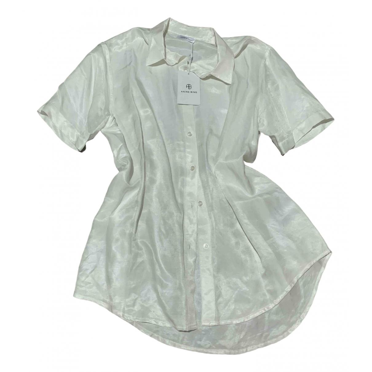Anine Bing - Top   pour femme en soie - blanc