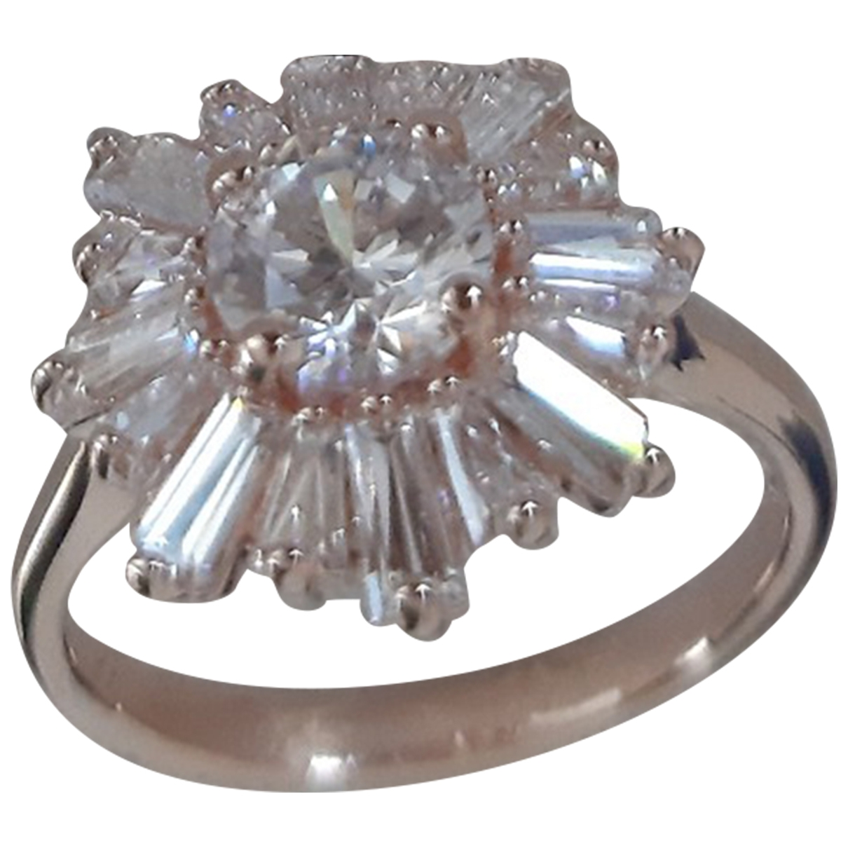 Swarovski \N Ring in  Weiss Rosegold