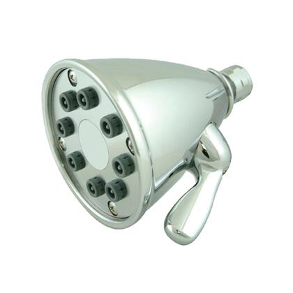 WH139-C Showerhaus round showerhead with 8 spray jets - solid brass construction with adjustable ball