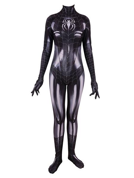 Milanoo Marvel Comics Spider Man Women Jumpsuit Zentai Cosplay Costume Halloween