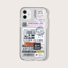 Funda de iphone con etiqueta mixta