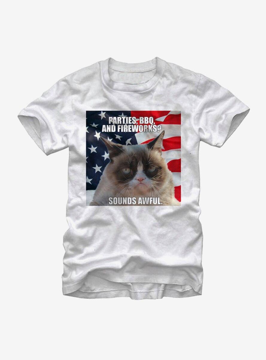 Grumpy Cat Fourth of July Fail T-Shirt