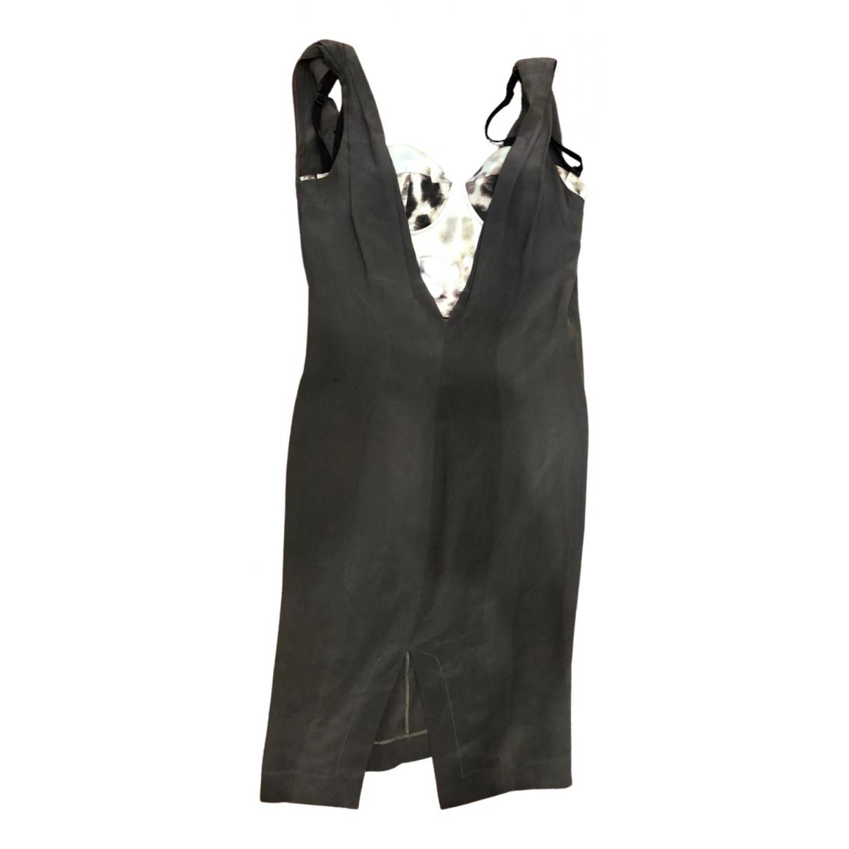Just Cavalli \N Kleid in  Braun Polyester