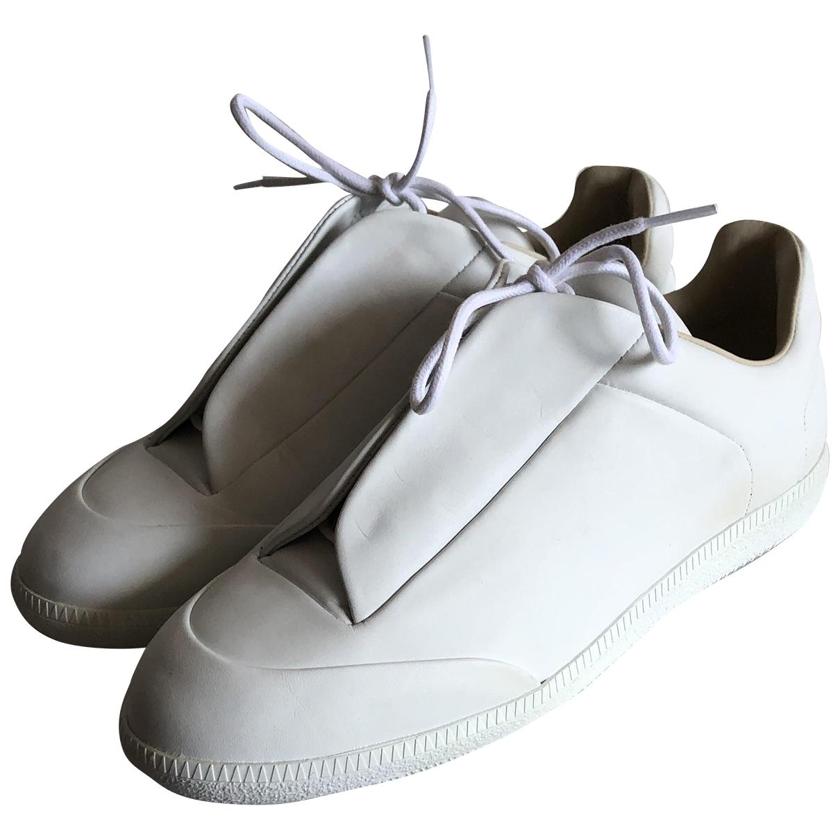 Maison Martin Margiela \N Sneakers in  Weiss Leder
