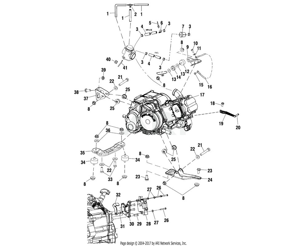 Polaris OEM 5242964-067 Mount, Engine, Top