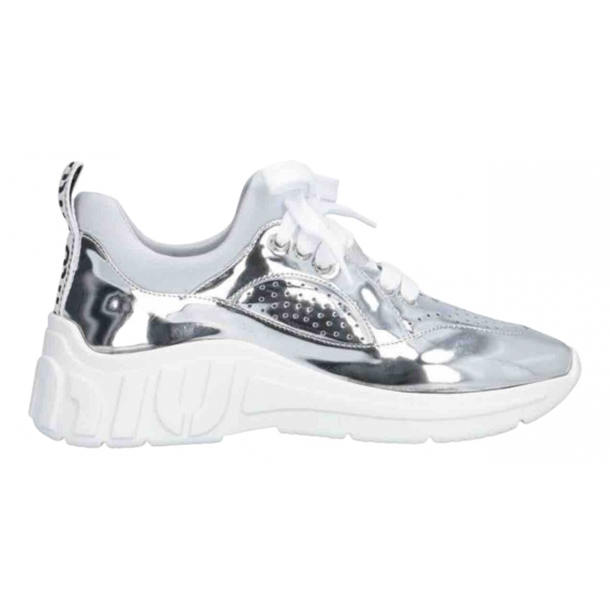 Miu Miu \N Silver Leather Trainers for Women 41 IT