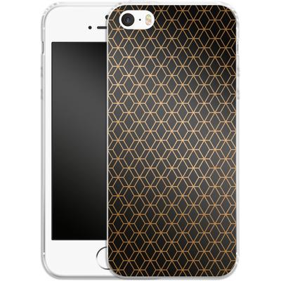 Apple iPhone 5 Silikon Handyhuelle - Night Pattern von #basic