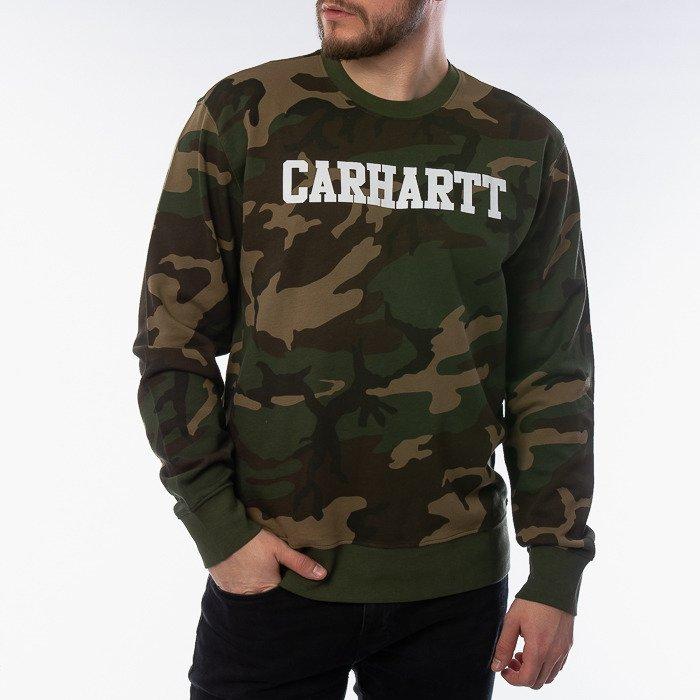 Carhartt WIP Sweatshirt I024668 CAMO LAUREL/WHITE