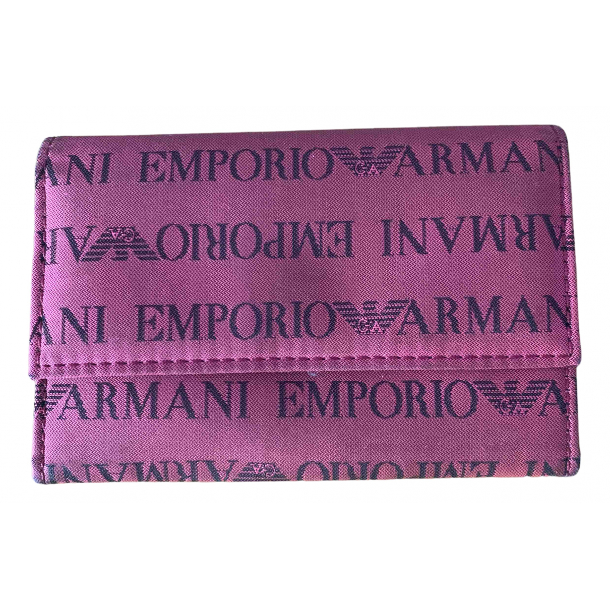 Emporio Armani - Portefeuille   pour femme en toile
