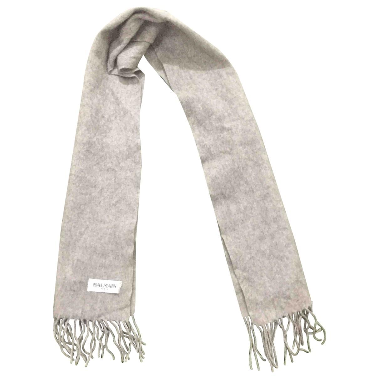 Balmain \N Grey Wool scarf & pocket squares for Men \N