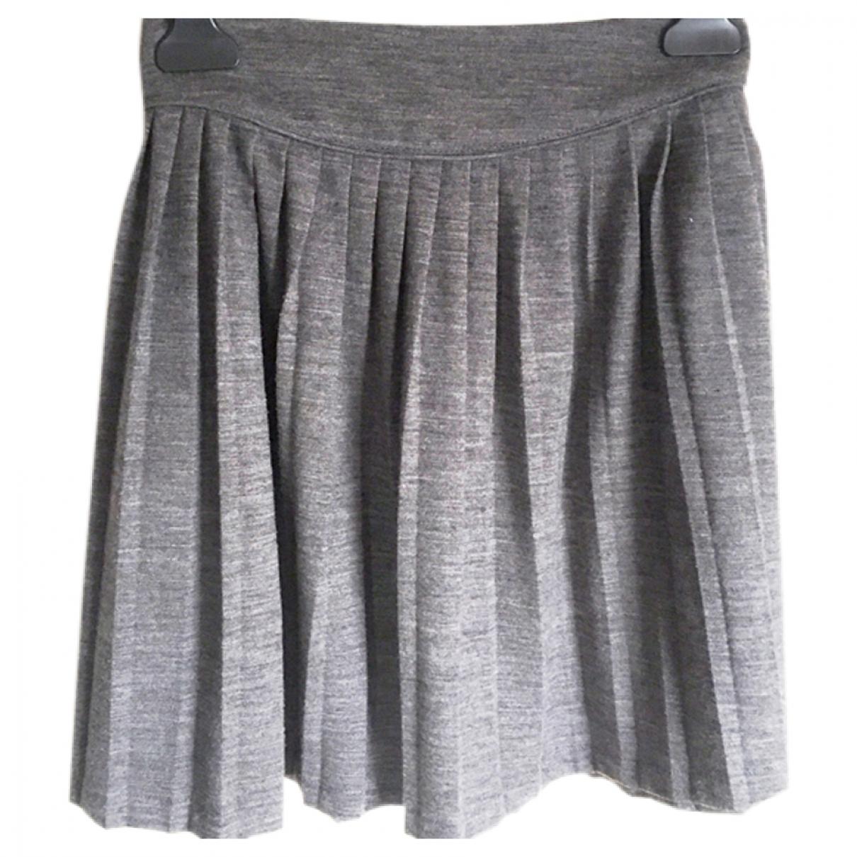 Sandro - Jupe   pour femme en laine - gris