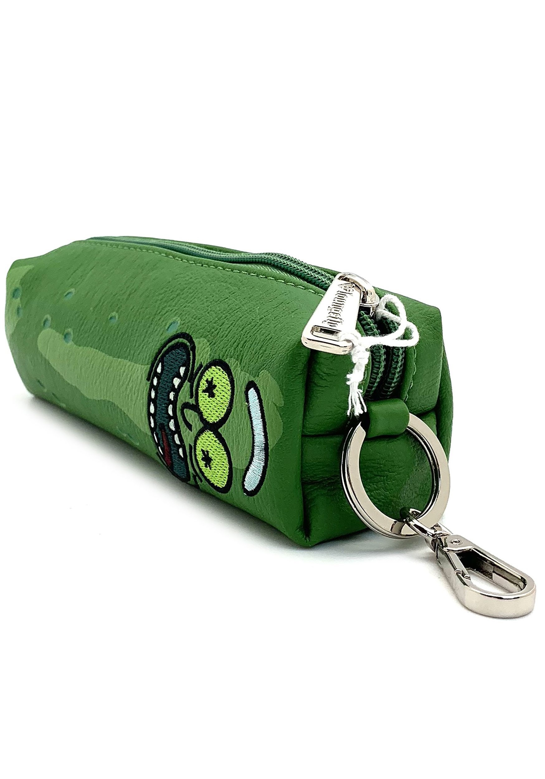Loungefly Rick and Morty Faux Leather Pickle Rick Coin Bag