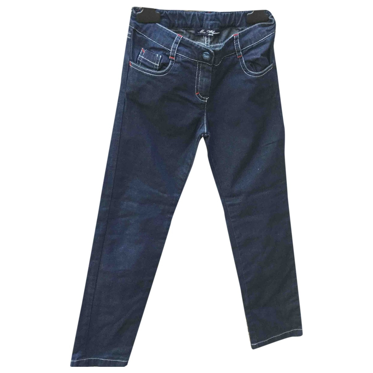 Blumarine \N Blue Cotton Trousers for Kids 8 years - up to 128cm FR
