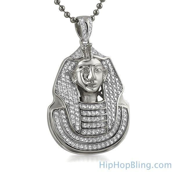 .925 Sterling Silver Mini Pharaoh CZ Pendant