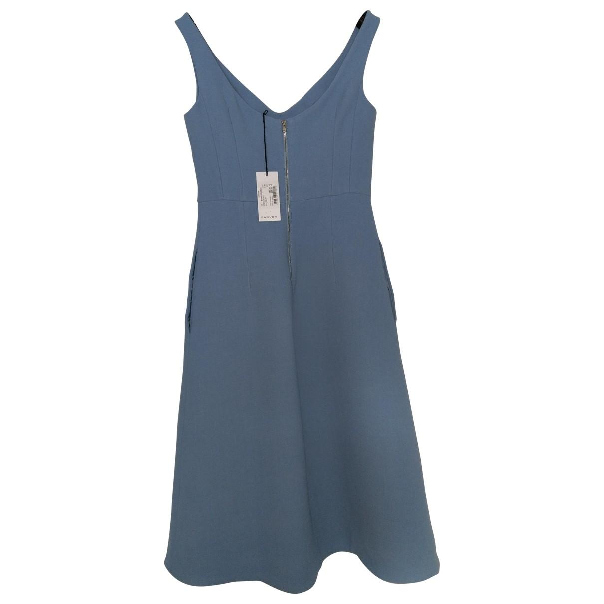 Carven \N Kleid in  Blau Wolle