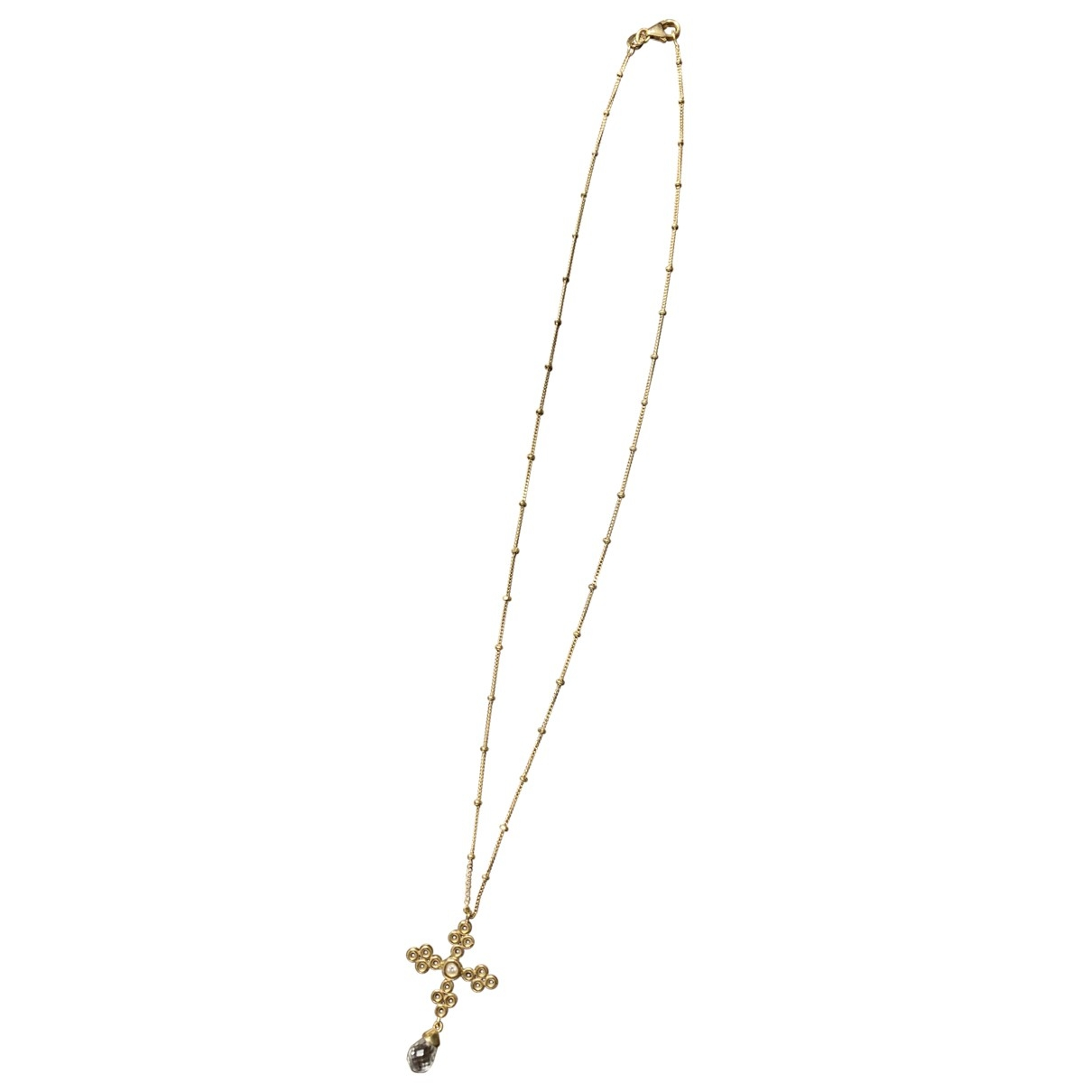 Non Signe / Unsigned Croix Anhaenger in  Gold Gelbgold