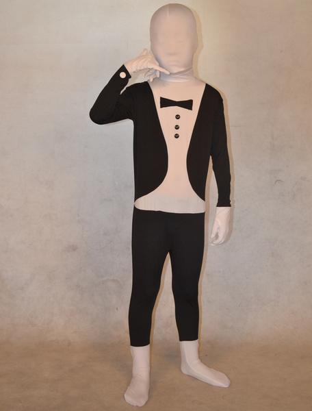 Milanoo Disfraz Halloween Zentai de elastano de marca LYCRA de esmoquin de estilo elegante Halloween