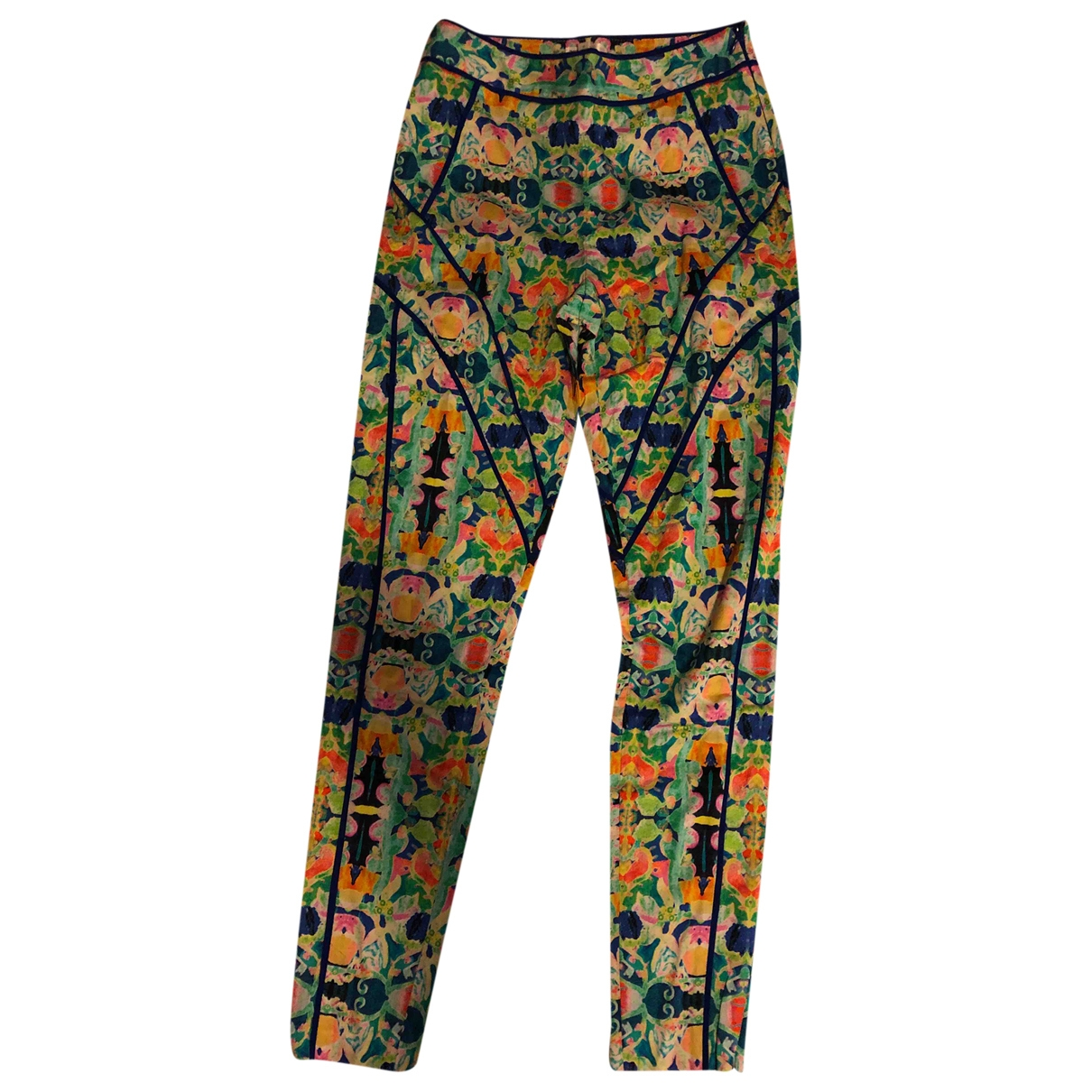 Milly \N Multicolour Cotton Trousers for Women 1 US