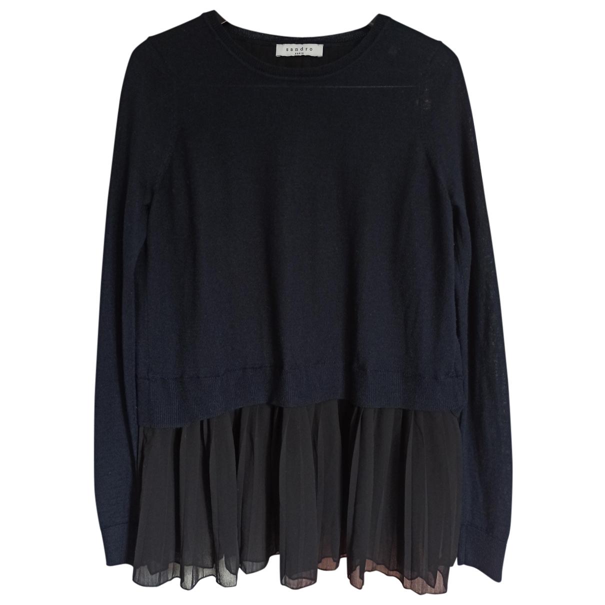 Sandro N Navy Wool Knitwear for Women 1 0-5