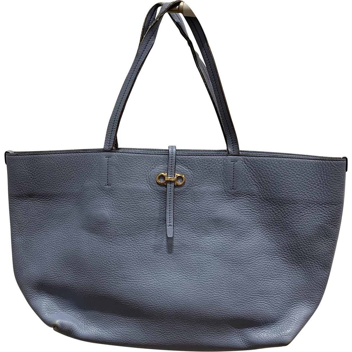 Salvatore Ferragamo N Blue Leather handbag for Women N