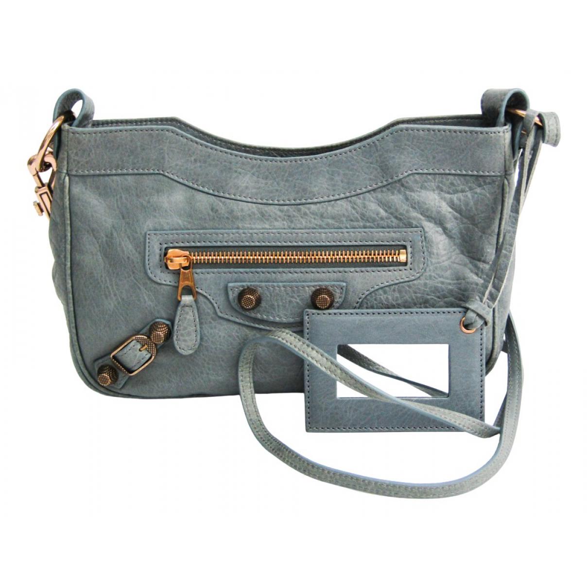 Balenciaga N Grey Leather handbag for Women N
