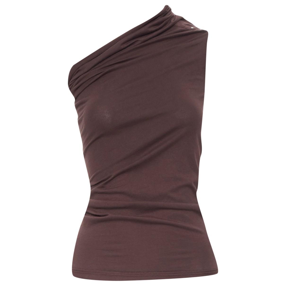 Rick Owens - Top   pour femme en coton - marron