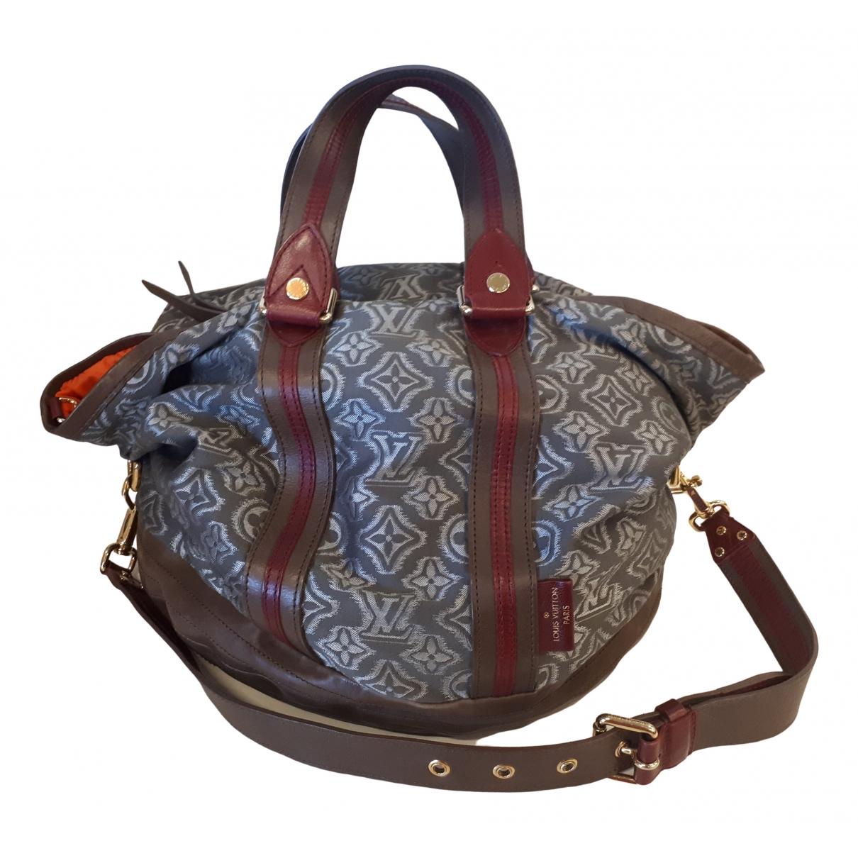 Louis Vuitton \N Handtasche in  Grau Baumwolle