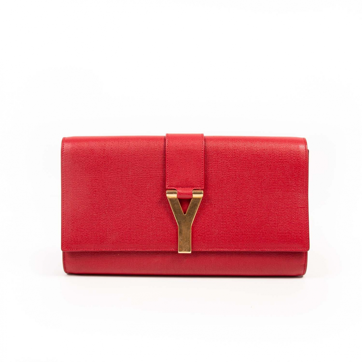 Saint Laurent Chyc Red Leather Clutch bag for Women \N