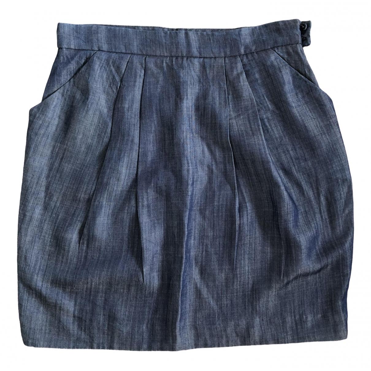 Claudie Pierlot \N Blue Cotton skirt for Women 40 FR
