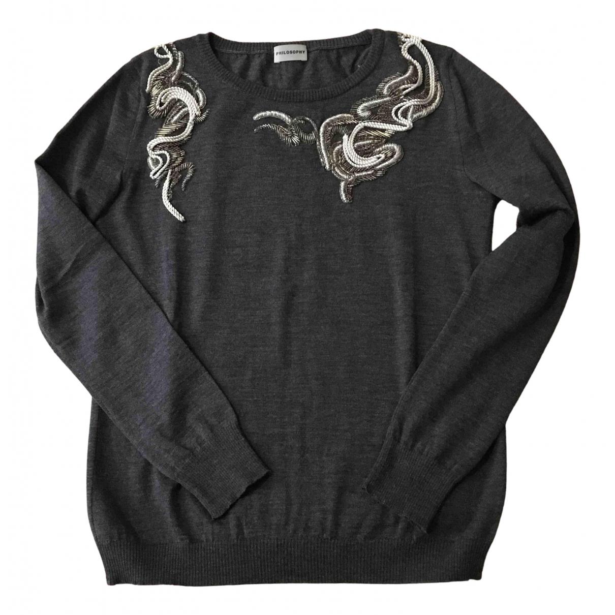 Philosophy Di Alberta Ferretti N Grey Wool Knitwear for Women 44 IT