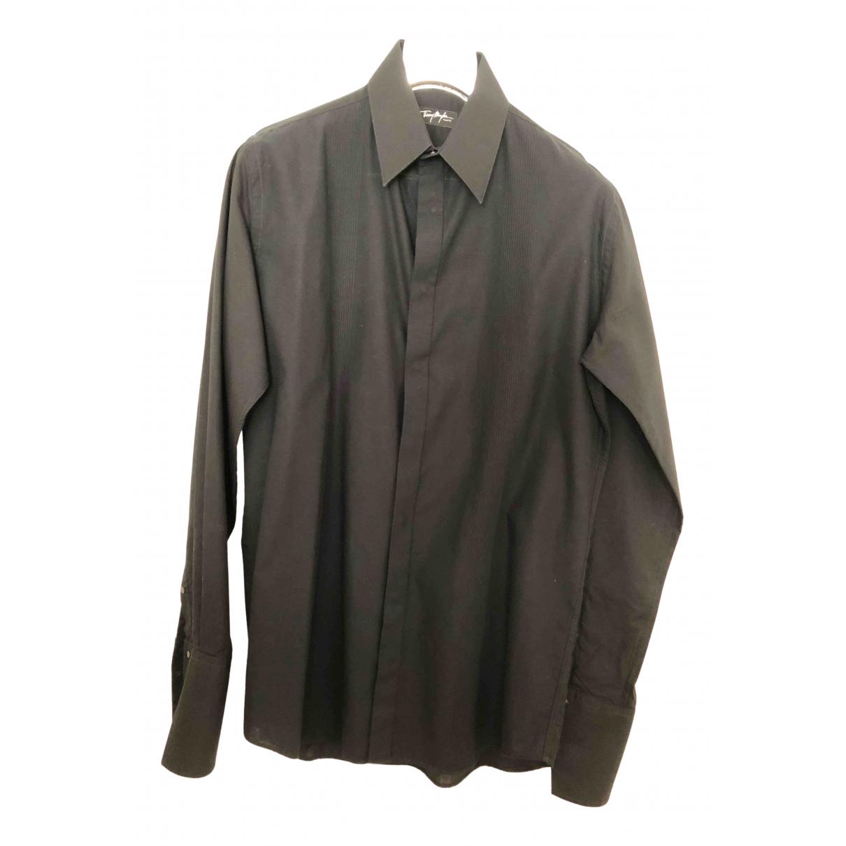Thierry Mugler \N Hemden in  Schwarz Baumwolle