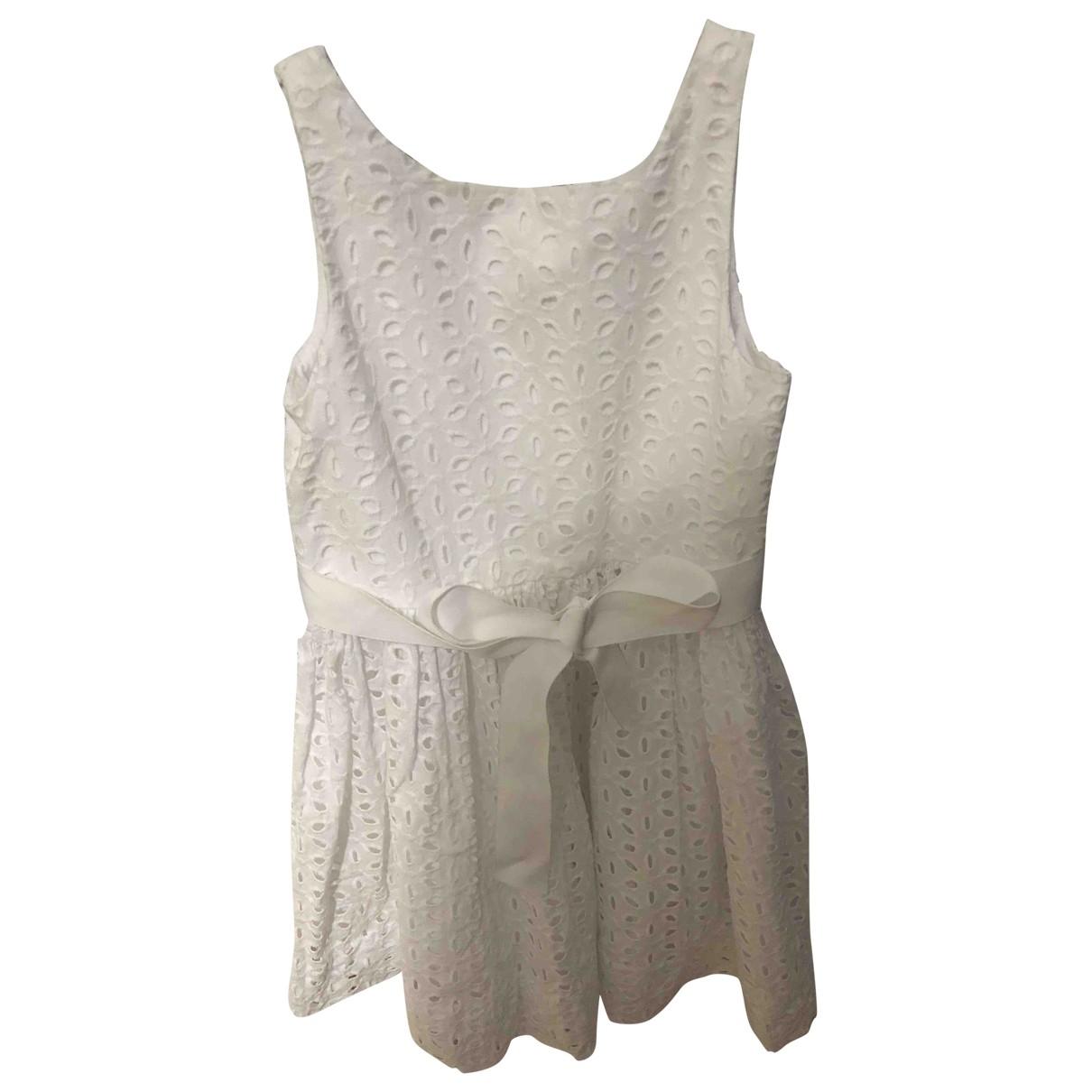 Polo Ralph Lauren - Robe    pour enfant en coton - blanc