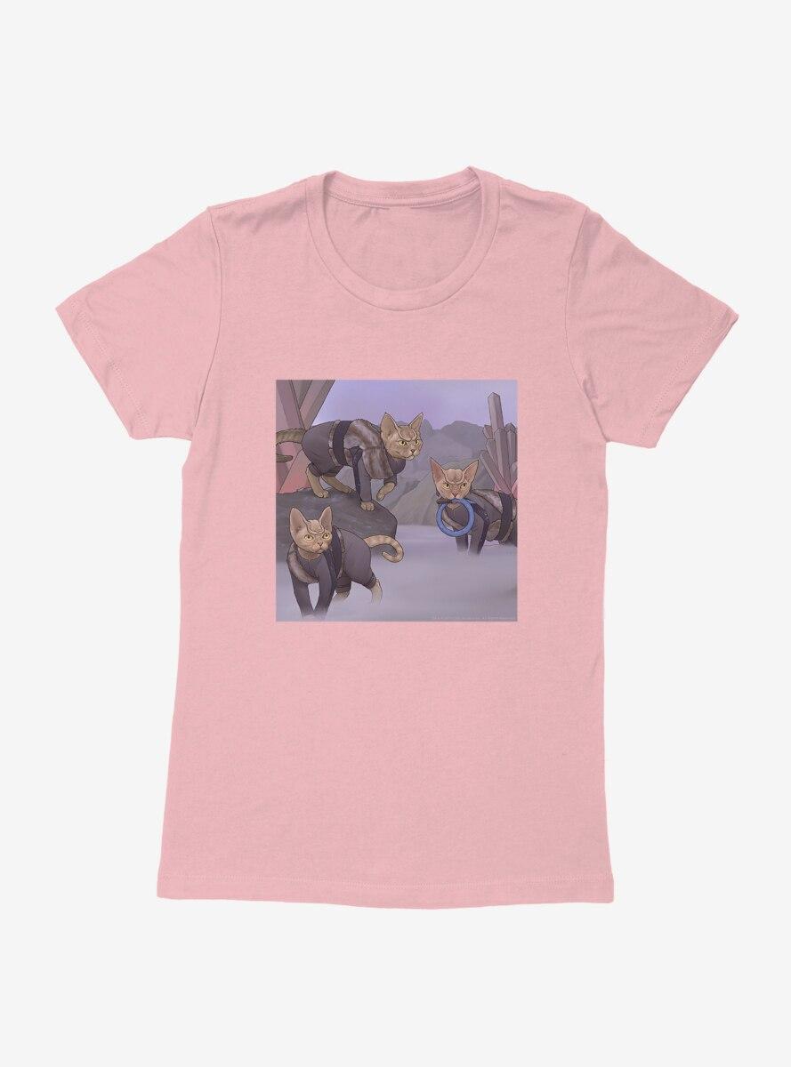 Star Trek The Next Generation Cats Attack Womens T-Shirt