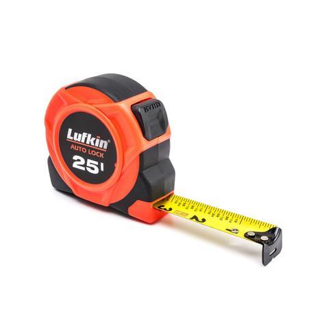 Lufkin Tape Measure, Auto Lock 700 Series, 1 In. x 25 Ft.