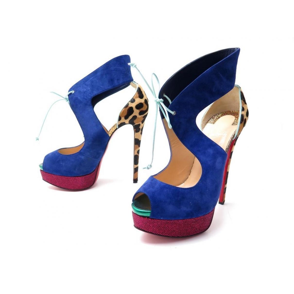 Christian Louboutin \N Multicolour Suede Sandals for Women 39.5 EU