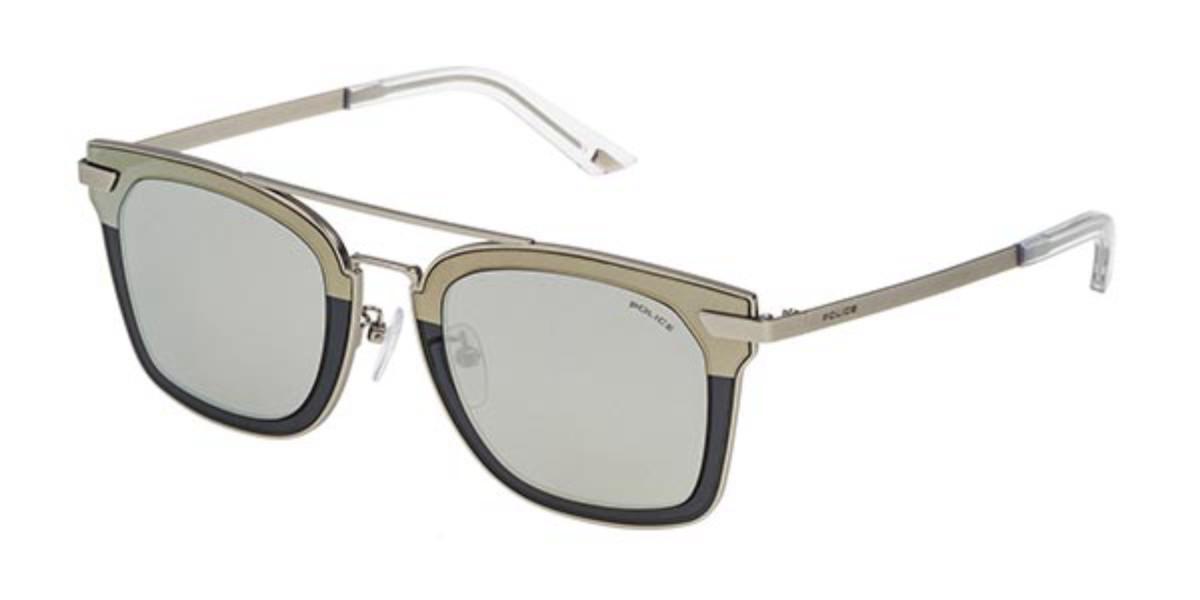 Police SPL348 HALO 1 581X Men's Sunglasses Grey Size 49