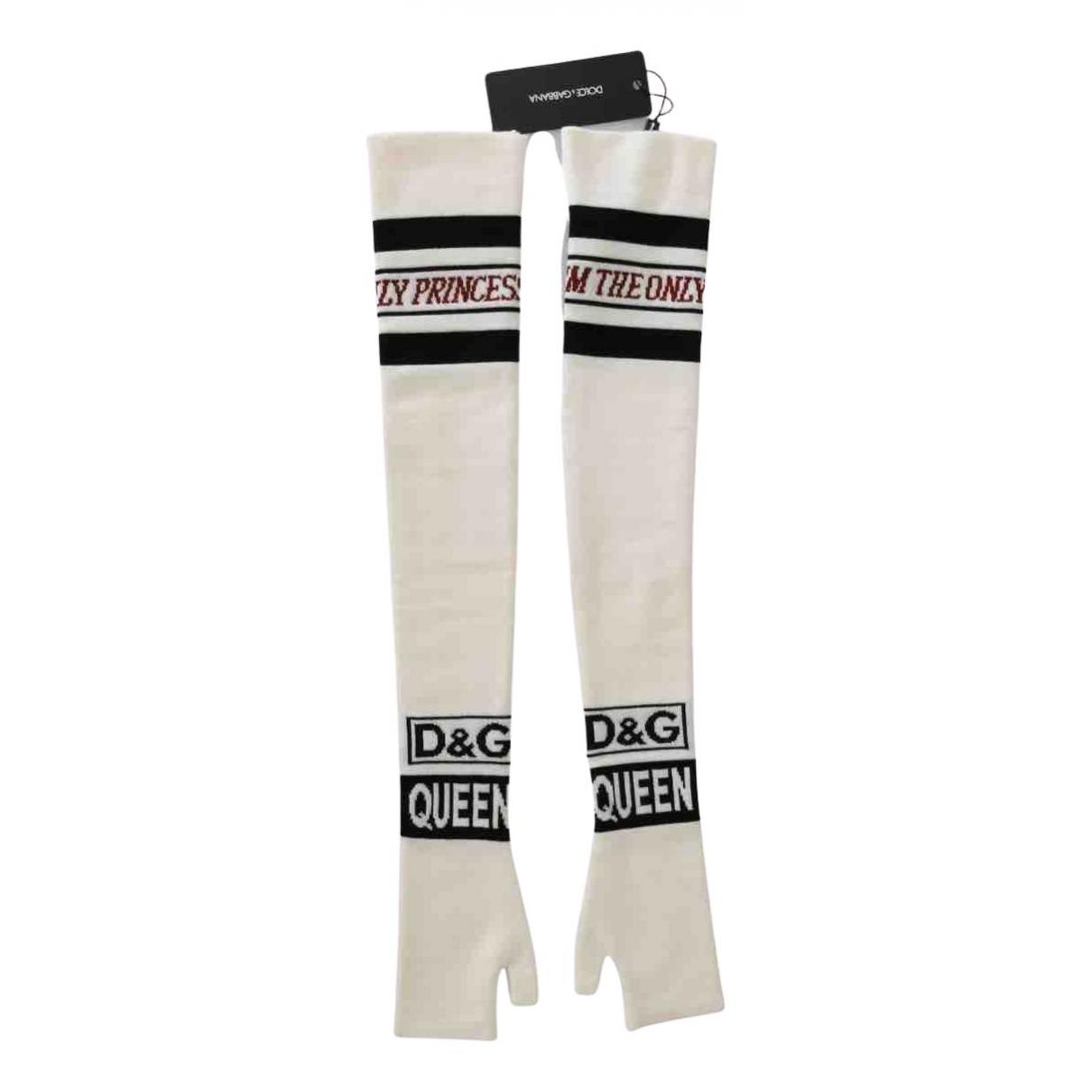 Dolce & Gabbana N White Wool Gloves for Women S International