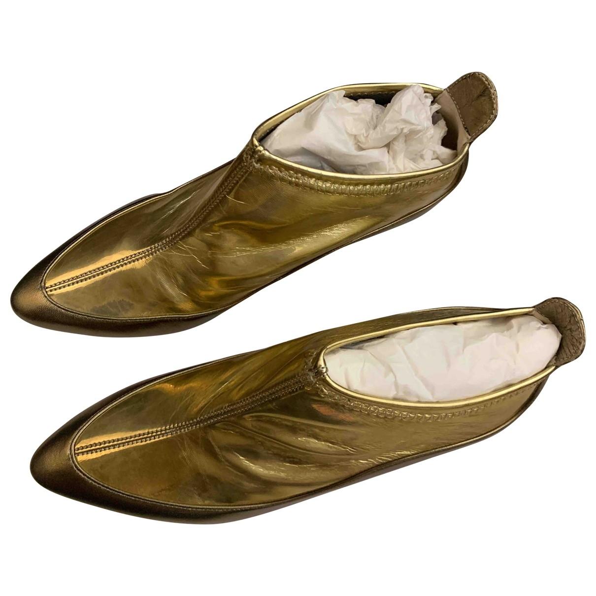 Jimmy Choo - Boots   pour femme en cuir - dore